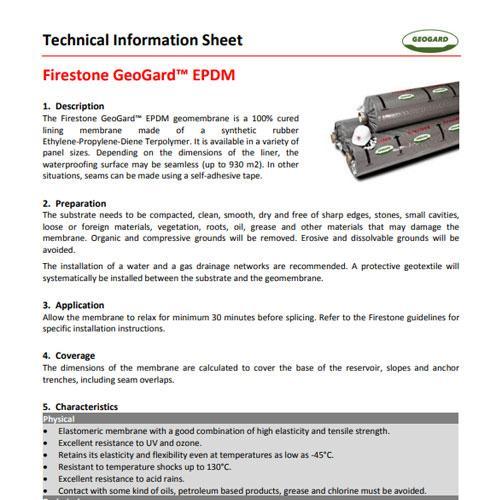 FIRESTONE GeoGard EPDM techinių duomenų lapas (EN)