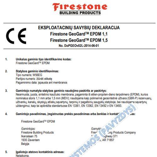 ESD - FIRESTONE EPDM GeoGard (LT)