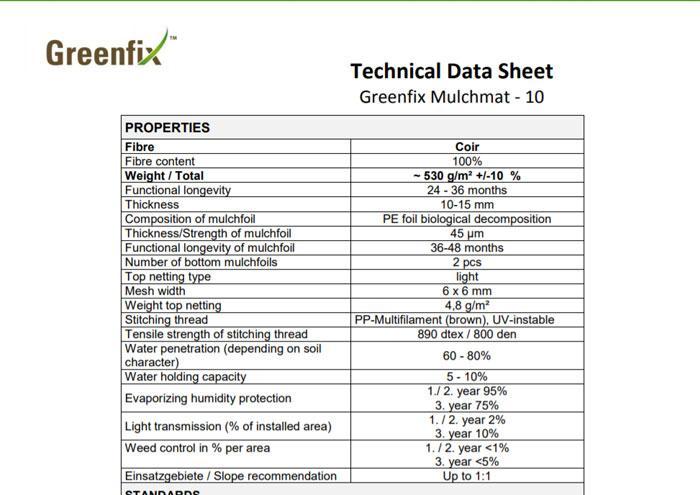 Greenfix Mulchmat Type 10